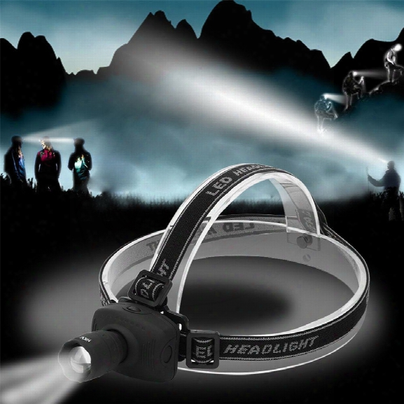 Hkv Super Bright Mini Led Fishing Headlamp Zoomable 3 Modes Energy Saving Outdoor Sports Camping Headlight Flashlights
