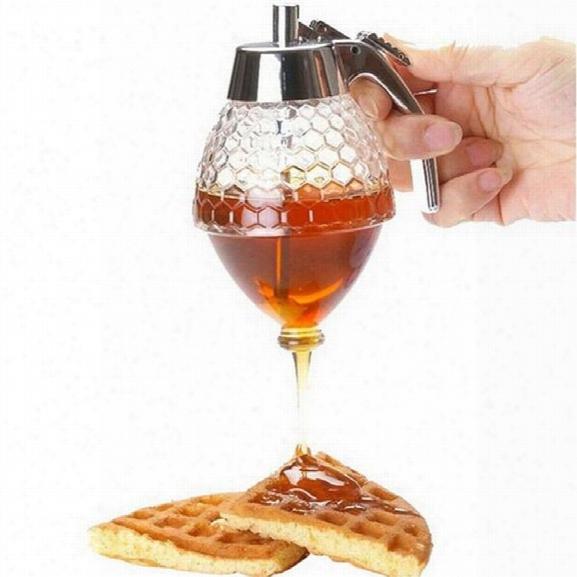 Honey Dispenser Transparent Acrylic Honeycomb 200ml Honey Pot Muffins Companion Best Appliance Leakage Dinnerware