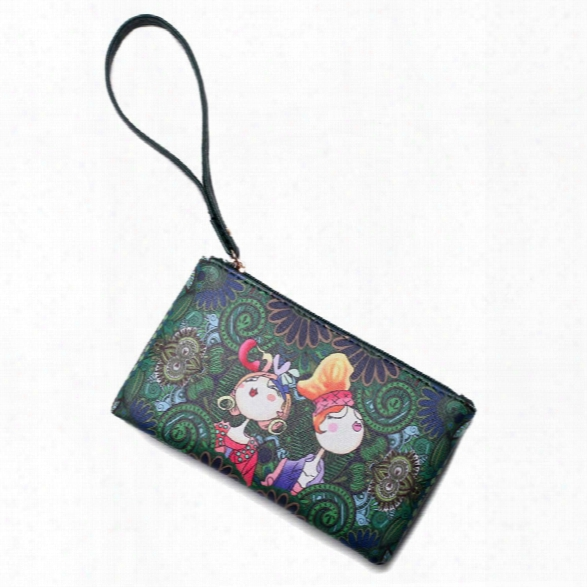 Hot Mini Cartoon Print Women Clutch High Quality Leather Crossbody Bags Ladies Colorful Small Shoulder Flap Bag Girl