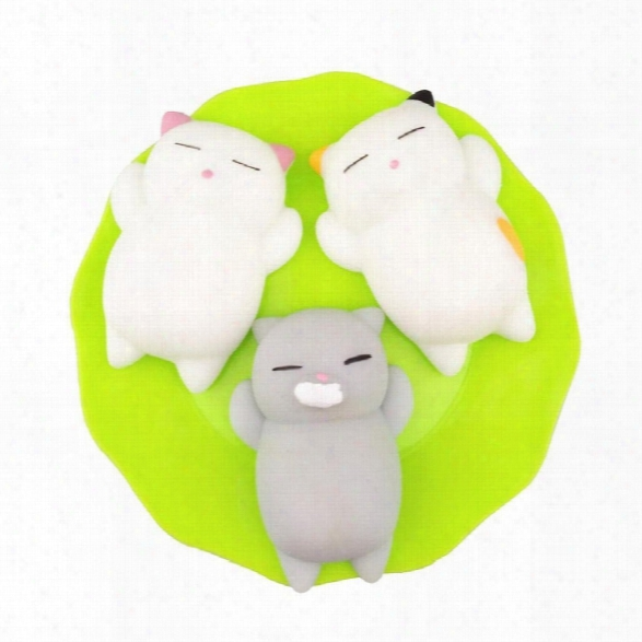 Kawaii Slow Rising Soft Squishy Squeeze Cute Mini Cat Stress Reliever Decompression Toy For Kids Fidget Gift