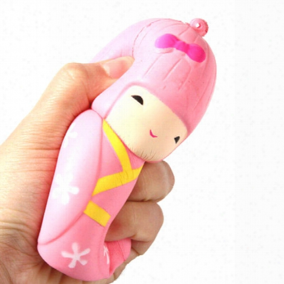 Latest Jumbo Squishy Slow Rising Stress Relief Toy Ornamental Pendant Made By Enviromental Pu Replica Japanese Girl
