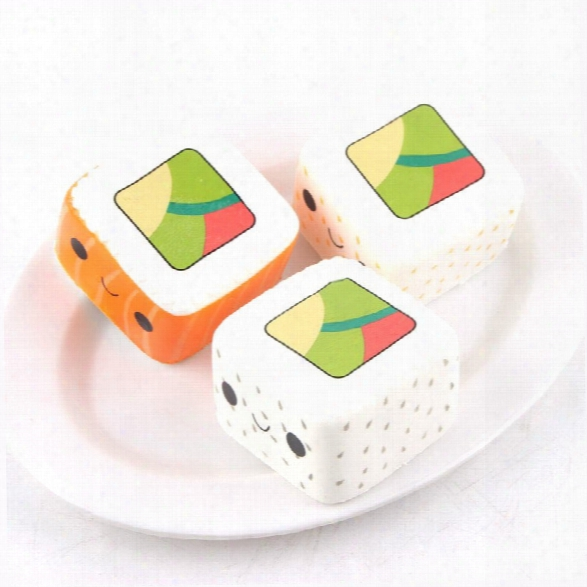 Latest Jumbo Squishy Slow Rising Stress Relief Toy Ornamental Pendant Made By Enviromental Pu Replica Square Sushi