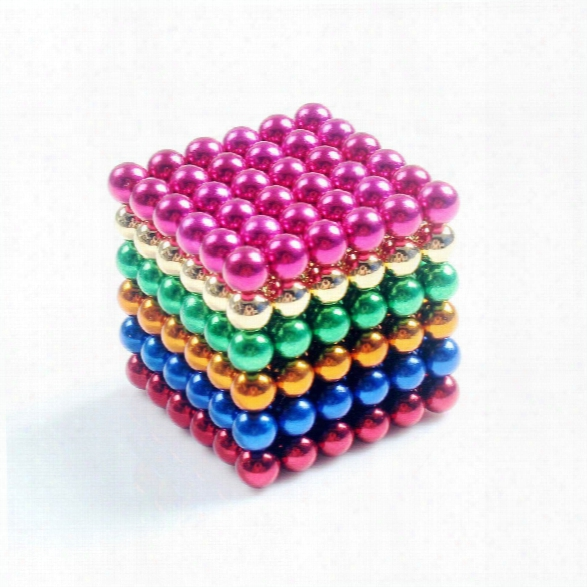 Magnetic Balls (5mm S Et Of 216 Balls) Diy Multicolor Stainless Steel Sculptures Healing Creative Toys Magic Cube