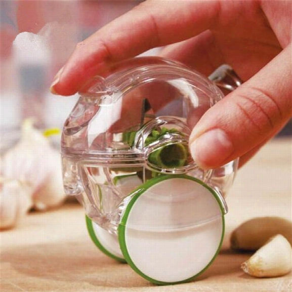 Mini Rolling Garlic Chopper Plastic Garlic Crusher Novelty Kitchen Tool Household Garlic Grater Ginger Kitchen Accessori