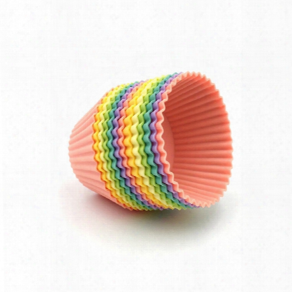 Mini Size Food Grade Silicone Baking Cups Cupcake Liners Non Stick Silicone Cupcake Cups Truffle Cups - 13pcs 6  Colors