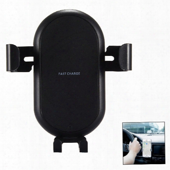 Minismile Multi-function Gravity Car Air Vent Mount Holder With Wireless Quick Charger Adapter For Iphone X / 8 / 8 Plus