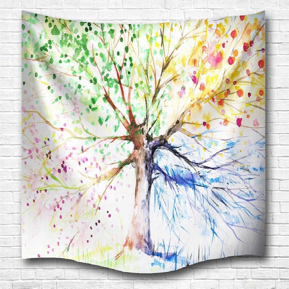 Multicolor Tree 3d Digital Printing Home Wall Hanging Nature Art Fabric Tapestry For Bedroom Living Room Decorations