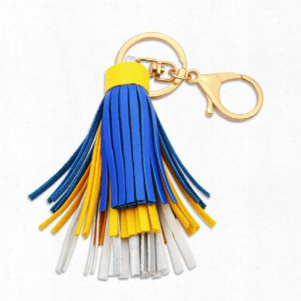 New Fashion Jewelry Romantic Classic Cute Trendy Style Small Long Tassels Rose Gold Color Key Chains For Women