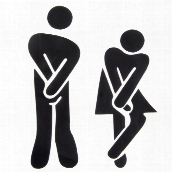 New Funny Toilet Entrance Sign Decal Vinyl Sticker For Shop Office Home Cafe Hotel Toilet Bathroom Wall Door Decoration