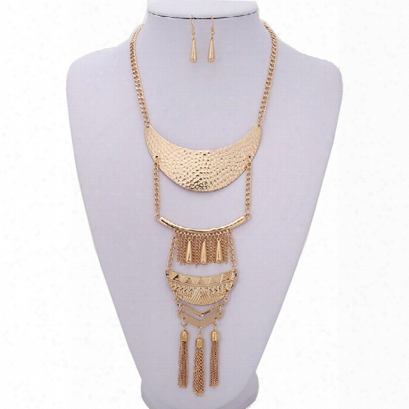 New Tassel Ethnic Style Set Bohemian Long Sweater Chain Multi-layered Necklace Accessories Fashion Jewelry