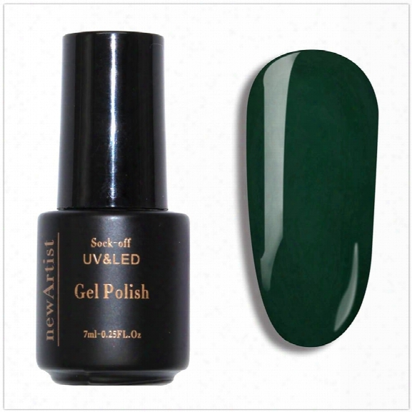 Newartist Pure Color Uv Led Nail Gel Polish Mustard Green Series 30s Fast Drying Long Lasting Sock Off 7ml