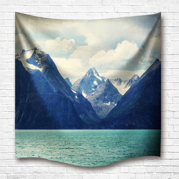 Norway Scenery 3d Digital Printing Home Wall Hanging Nature Art Fabric Tapestry For Dorm Bedroom Living Room Decoratio