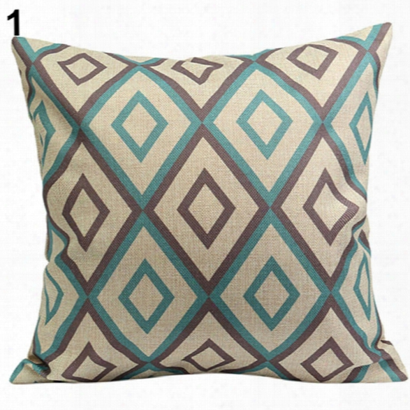 Paisley Pillow Case Bohemian Geometric Pillowcase Cotton Linen Ethnic Pillow Cover Bedroom 45cm X 45cm Throw Pillows