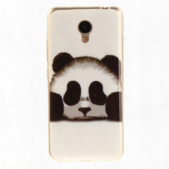 Panda Soft Clear Imd Tpu Phone Casing Mobile Smartphone Cover Shell Case For Meizu M5c / 5c / A5 Charm Blue A5