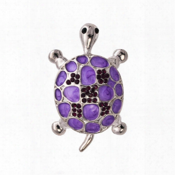 Purple Tortoise Brooch Hat Scarf Sweater Pins Up Turtle Animal Brooches For Woman Kids Girls Best Gifts Birthday Je