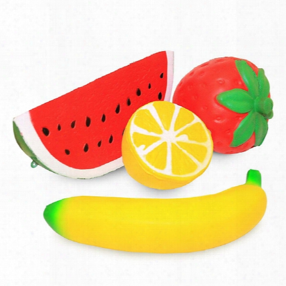 Slow Rising Stress Relief Toys Kawaii Fruit Designs Strawberry Banana Watermelon Lemon For Kids Adults