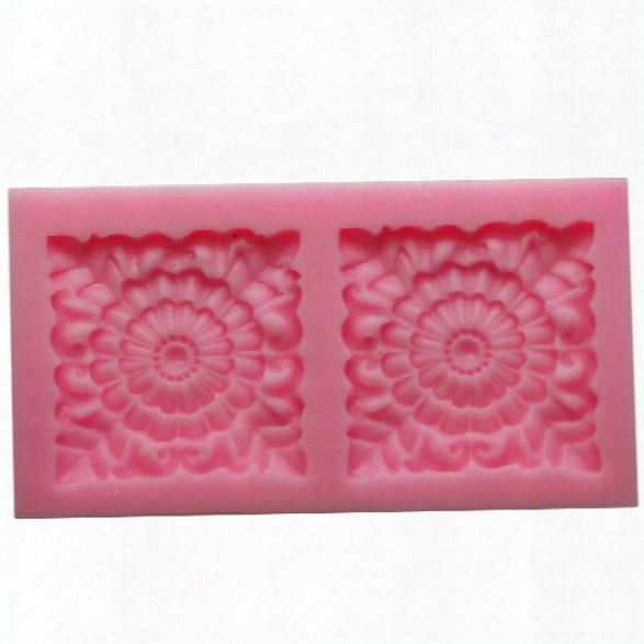 Square Rose Flower Fondant Mould Silicone Chocolate Soap Candle Mold Gift Decorating Impression Silicone Baking Pastry T