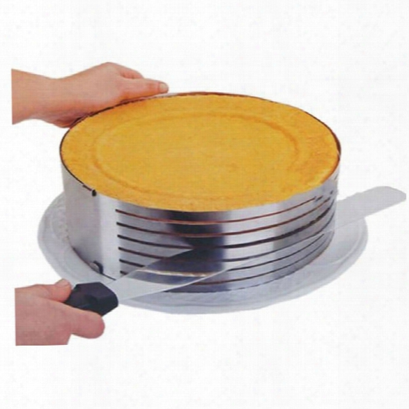 Stainless Steel Circular 6 Inch-8 Inch Adjustable 7 Layers Mousse Ring Cake Bread Slicer Cutter Mould Baking Tool
