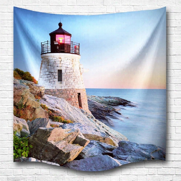 Sunset Tower 3d Digital Printing Home Wall Hanging Nature Art Fabric Tapestry For Bedroom Living Room Decorations