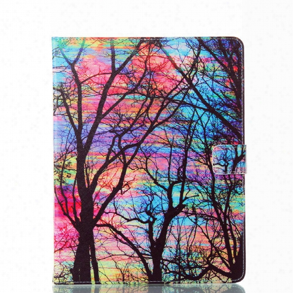 Tablet Case For Ipad 234 Pad Cover 9.7 Inch Sunset Color Tree Pu Leather Folding Folio Protective Shell For Ipad 2 3 4