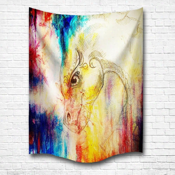 The Dragon 3d Digital Printing Home Wall Hanging Nature Art Fabric Tapestry For Bedroom Living Room Decorations