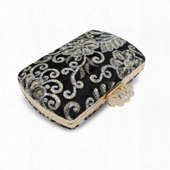 The Evening Bags Women Clutch Bags Evening Clutch Bags Wedding Bridal Handbag Pearl Beaded Lace Rose Fashion Rhinestone