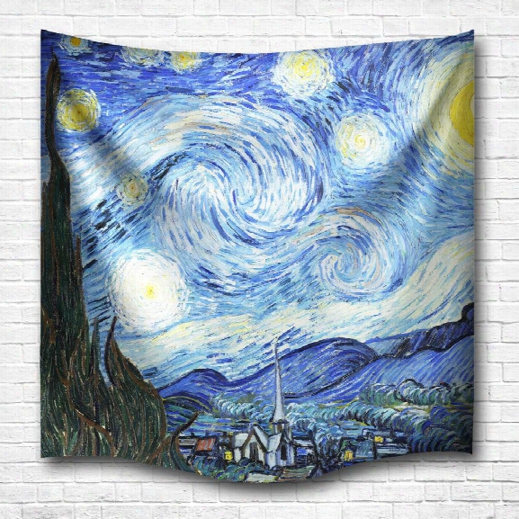 The Starry Night 3d Digital Printing Home Wall Hanging Nature Art Fabric Tapestry For Dorm Bedroom Living Decorations