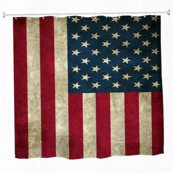 The Stars And Stripes Polyester Shower Curtain Bathroom Curtain High Definition 3d Printing Water-proof
