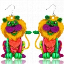 Fashion Jewelry Brand Cartoon Animal King Of Happy Prairie Story Series Lion Drop Earrings For Women And Girls