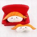 Kawaii Squishy Rice Ball Salmon Sushi Slow Rising Pendant Phone Straps Vividly Japan Style Soft Keychain Kid Toy Gift