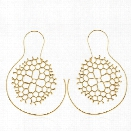 Trendy Round Spiral Snowflake Earrings Punk Exaggerated Hollow Ladies Tribal Drop Earrings For Women Gold Sliver Gift