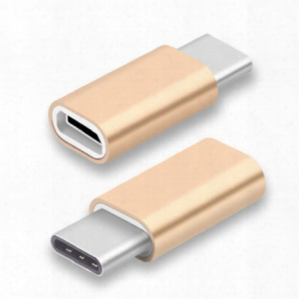 Type-c Adapter Micro Usb To Adapter By Ailun Data Syncing And Charging Universal For Macbook Chromebook Pixel Nex