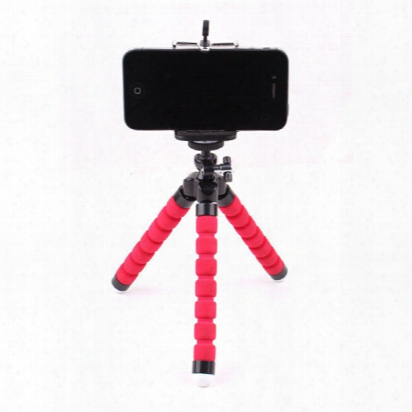 Universal Compact Tripod Stand Flexible Octopus Cell Phone Camera Selfie Stick Tripod Mount For Smartphone / Digital Cam