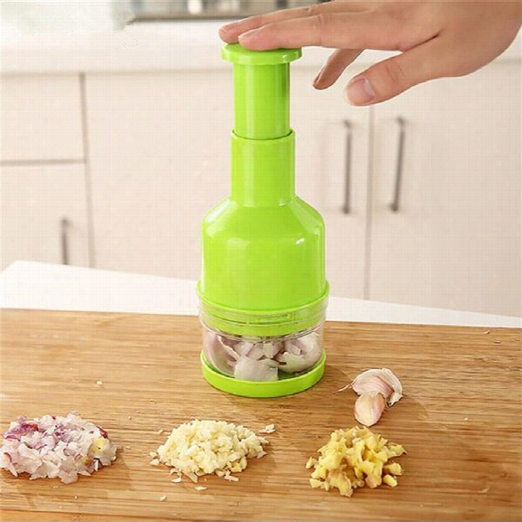 Vegetable Chopper Plastic Grinding Garlic Kitchen Spiral Food Speedy Mixer Meat Fruit Crusher Garlic Press Shredder