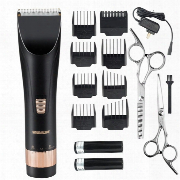 Warmlife Professional Cordless Hair Clippers Set Electric Hair Trimmer For Men And Baby Rechargeable Haircut Kit With 2