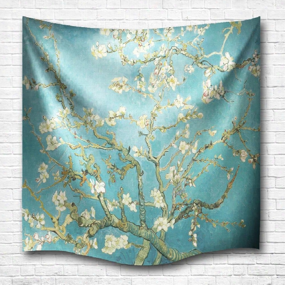 Wintersweet 3d Digital Printing Home Wall Hanging Nature Art Fabric Tapestry For Dorm Bedroom Living Room Decorations