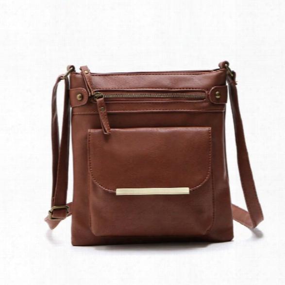 Women Bag Pu Leather Bag For Women Vintage Messenger Bag Casual Handbag Cressenger Bag Shoulder Handbag