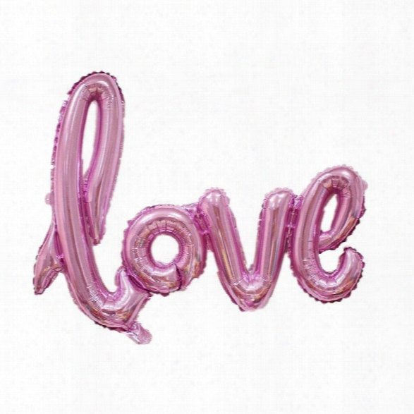 Yeduo Ligatures Love Letter Foil Balloon Anniversary Wedding Valentines Party Decoration Champagne Cup Photo Booth Prop