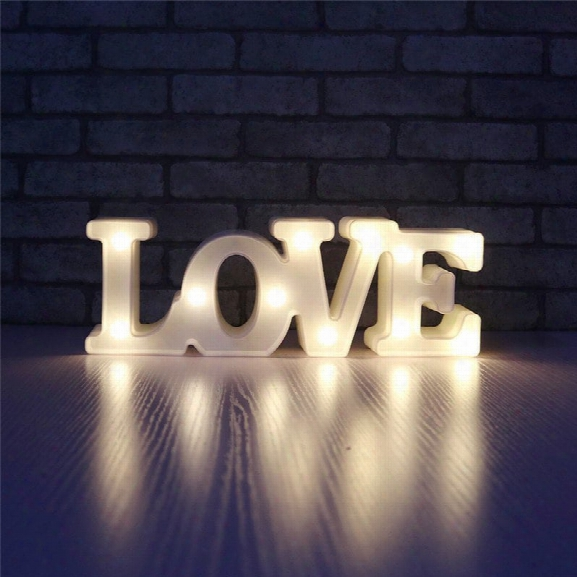 Yeduo Romantic Small White Love Marquee Sign Night Lights For Home Wedding Decoration Valentine Gift