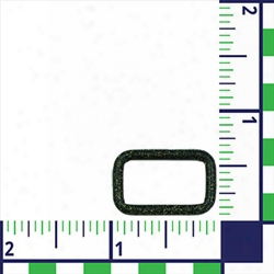 """#116- 3/4"""" Powder Coated Stainless Steel Loops - Black Speckle"""