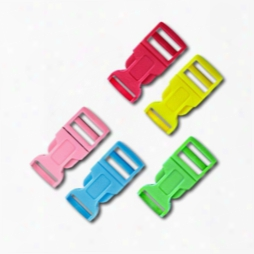 1/2 Inch Colored Single Adjust Side Release Buckles, Contoured