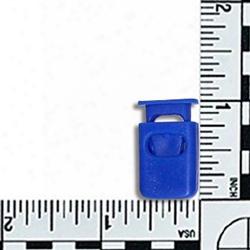 #169: Capped Square Barrel Cord Lock V2 - Pacific Blue