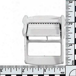 #176: 1-1/2 Metal Cam Buckles Powder Coated White