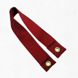 #354: 2 Inch Red Flat Nylon Double Grommet Straps 2 Feet Long