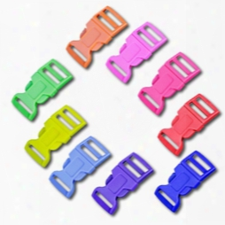 5/8 Inch Colored Single Adjust Side Release Buckles, Contoured