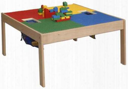 Activity Table Large - Natural Finish - Large Grid