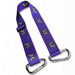Bag Straps W/ 1 Inch Patterned Polyester Webbing