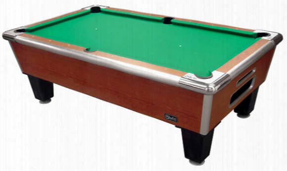 Bayside Standard Pool Table 93 Inch - Cherry Finish