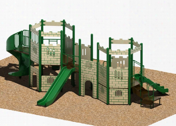 Castle Modular Playground - 3.5 Inch Posts