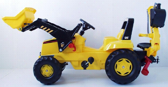 Caterpillar Kid Tractor With Loader And Back Hoe Tractor